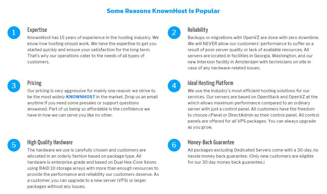 Reasons to Choose Knownhost