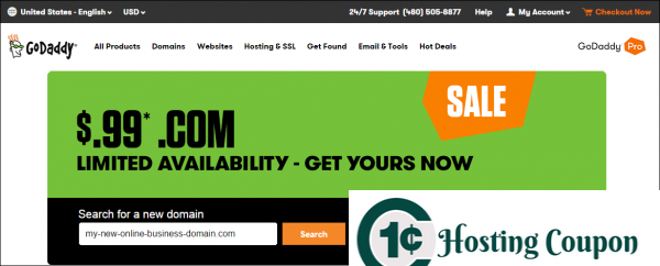 Godaddy 99 Cent Domain