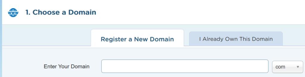 Choose Hostgator Domain name