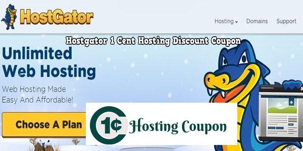 Hostgator 1 cent Hosting Coupon code