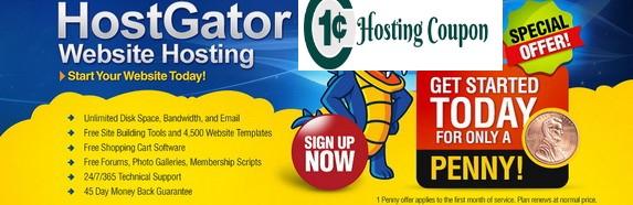 Hostgator 1 penny coupon