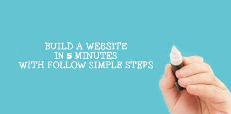 BUILD A WEBSITE IN 5 MINUTES WITH FOLLOW SIMPLE STEPS