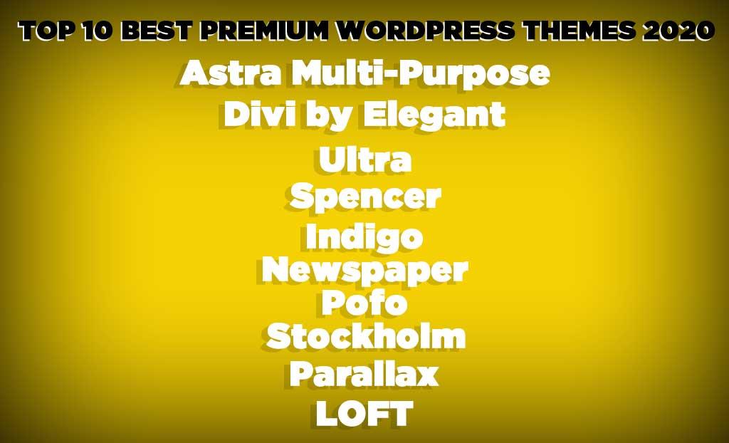 Top 10 Best Premium WordPress Themes 2020